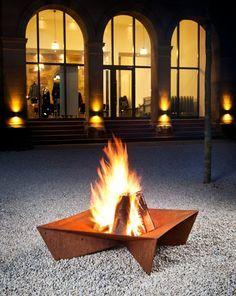 Feuerschale Gusseisen Eichenblatt 35kg Feuerkorb Im Garten Gestaltungstipps