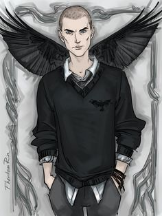 """Ronan(""""the Raven Cycle"""" by Maggie Stiefvater) by phantomrin.tumblr.com"""