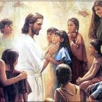 3. You have to use context to understand this artwork. Jesus is allowing the children to come to Him.