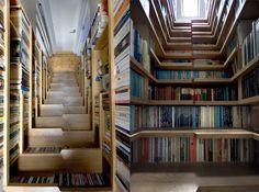 Decoração + livros...sempre uma ótima combinação.