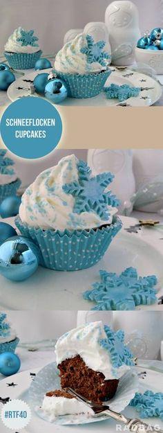 Winter Cupcakes / Weihnachts Cupcake | Weihnachten winterliche weihnachtliche Cupcakes Weihnachtsbäckerei Rezeptideen Ideen DIY Backen Advent