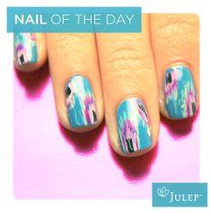 NOTD: Feathers   #julep #nails #nailart