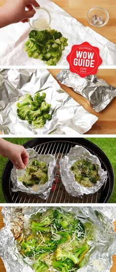 Broccoli made on the grill with lemon and parm - you'll never have anything more delicious! Camp food can be healthy, too!Broccoli made on the grill with lemon and parm - you'll never have anything more delicious! Camp food can be healthy, too! Side Dish Recipes, Vegetable Recipes, Clean Eating, Healthy Eating, Healthy Food, Cooking Recipes, Healthy Recipes, Smoker Recipes, Barbecue Recipes
