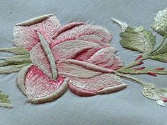 Em's Heart Antique Linens -Antique Society Silk Embroidered Centerpiece
