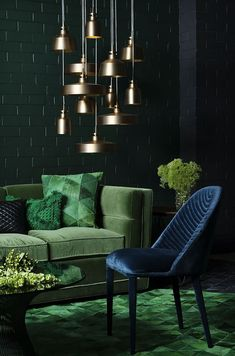 Simple and Crazy Ideas Can Change Your Life: Warm Minimalist Decor Interior Design vintage minimalist bedroom lamps.Minimalist Decor Apartments Beds minimalist home tips apartment therapy. Dark Living Rooms, Living Room Green, Green Rooms, Living Room Decor, Dark Rooms, Dining Room, Lights For Living Room, Cozy Living, Small Living