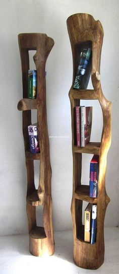 rustic shelving idea