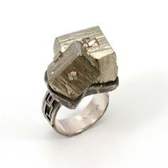 Ring | Chelsea Swank. Pyrite Rock and Sterling Silver #ring #jewellery