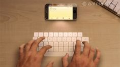 Technology has made it possible to use a hologram projection keyboard. This is something I want to own and experience!
