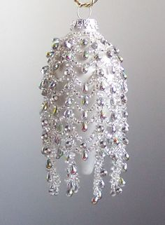 beaded christmas ornaments free patterns | Beaded Christmas Angel Ornament Pattern