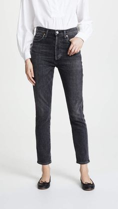 Citizens of Humanity Rocket Crop High Rise Skinny Jeans,Optic White,Size 25,$178