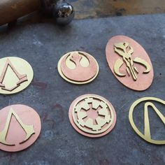 "@gomeowcreations ""So I got all of my cutting done. Some time this weeknd I will get to soldering. What do you think? Would you like a custom symbol made? If so just message…"""