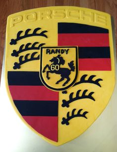 A Porsche Crest for a very special birthday! www.skysthelimitcake.com