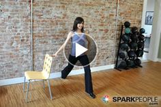 15-Minute Desk Workout: No equipment, no excuses! Tone your body head to toe with this short video. All you need is a chair and a wall--you can even do this at work! | via @SparkPeople #fitness #exercise #workout