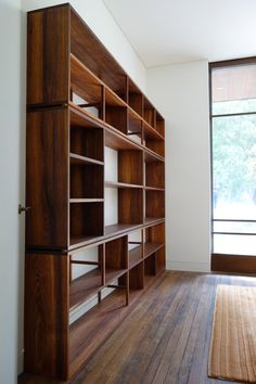 Handkrafted - Joanne's Bookcase. Custom made by Nathaniel Grey in Tasmanian black wood, finished with Danish oil.