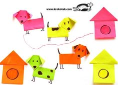 Pet preschool theme crafts activities 28 Ideas for 2019 Dog Crafts, Easy Crafts For Kids, Animal Crafts, Preschool Crafts, Projects For Kids, Preschool Learning, Fun Activities For Kids, Art Activities, Kids Room Art