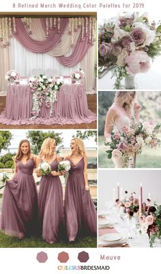 8 Refined March Wedding Color Palettes for 2019 is part of Mauve wedding - Here are the 8 refined March wedding color palettes for 2019 wedding You will be inspired for spring wedding in 2019 March Wedding Colors, March Wedding Flowers, Elegant Wedding Colors, Popular Wedding Colors, Dusty Rose Wedding, Wedding Color Schemes, Wedding Color Palettes, Wedding Trends, Trendy Wedding