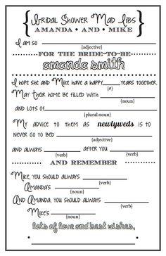 bridal shower mad libs idea 2