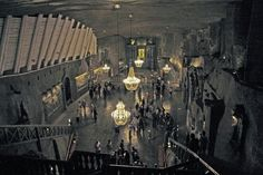 Wieliczka, a salt mine close to Krakow and originating from the 1400s, now an impressive sight.  This great church is part of the underground mines.