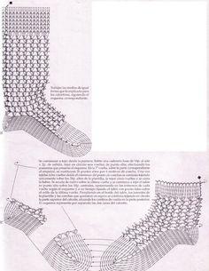 medias crochet