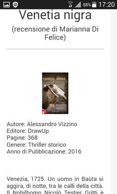 http://thrillernord.it/venetia_nigra.html  https://marisullealidellafantasia.blogspot.it/2017/03/venetia-nigra-recensione.html
