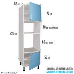 Web del bricolaje dise o diy plano de mueble de melamina - Medidas modulos cocina ...