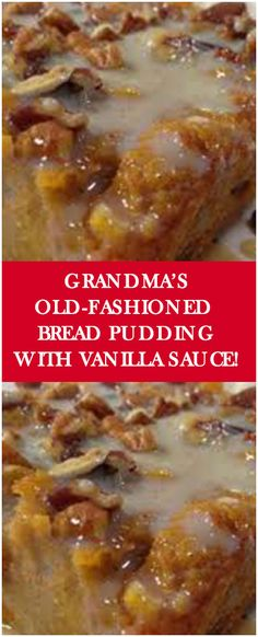 Ingredients     4 cups (8 slices) cubed white bread   1/2 cup raisins   2 cups milk    1/4 cup butter    1/2 cup sugar   2 eggs, slightly beaten   1 tablespoon vanilla   1/2 teaspoon ground nutmeg    Sauce Ingredients:     1/2