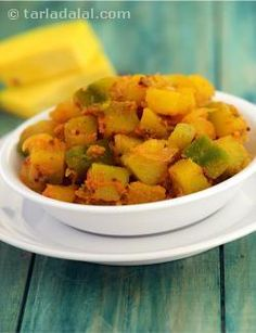 The health benefits of pumpkin are not too widely known, but it contains a horde of valuable nutrients like fibre, iron, folic acid, potassium, vitamin A and C. Soak in the health benefits of pumpkin, even as you delight in this delicious subzi, with steamed rice.