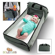 Amazon.com : Scuddles- 3-1| portable bassinet | for baby | Foldable Baby Bed | Travel Bassinet Functions As A Diaper Bag And Changing Station, Easy Folding For Travel : Baby