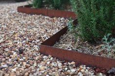 bordure de jardin décorative en acier Corten