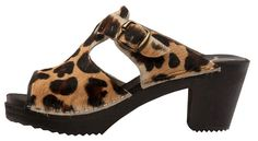 Cape Clogs - Pica Pica High Heels - Cougar - Find your inner cougar self, these are classy open toe sandal made from real leopard hair material. Clog Sandals, Open Toe Sandals, Leopard Hair, 2 Inch Heels, Heeled Mules, Clogs, Shoe Boots, High Heels, Cute Outfits