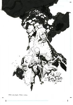 THE LONG DEATH TRADE COVER  by Mike Mignola Comic Art