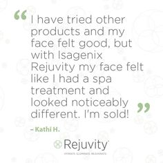 #Rejuvity skin care is excellent!!!