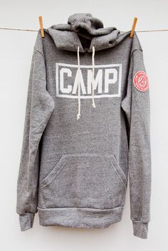 LK- Awesome Camp sweatshirt, looks like you could bundle in it like a boys!