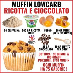 Conseils fitness en nutrition et en musculation. Healthy Muffins, Healthy Snacks, Healthy Recipes, Ricotta, Tips Fitness, Fitness Diet, Health Fitness, Light Desserts, Food Illustrations