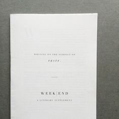 Cereal magazine #layout #book #print