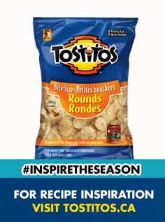 Try this. Grab a Bite Size Round, dip it into some Tostitos® salsa, and pop the whole thing right into your mouth. Fits perfectly. They're just like Tostitos® Restaurant Style tortilla chips, only smaller and round. Tostitos® Bite Size Rounds and Tostitos® salsa and be the snack hero!  #InspireTheSeason My Recipes, Recipies, Snack Recipes, Cooking Recipes, Snacks, My Favorite Food, Favorite Recipes, Christmas Sweets, Tortilla Chips