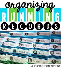 Organizing running records - adapt for IEP/Unit/SLO goals per each individual student :D