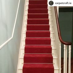 Carpet Stairs, Carpet Flooring, Raspberry Fool, Gray Island, Staircase Runner, Polished Pebble, Stair Decor, Carpet Installation, Painted Stairs