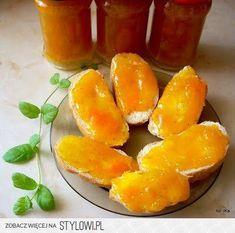 DŻEM DYNIOWO-JABŁKOWY składniki: ok. 1 kg mąższu… na Stylowi.pl Come Dine With Me, Peach Jam, Preserves, Cantaloupe, Watermelon, Cooking Recipes, Fish, Canning, Meat