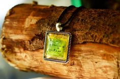 Lovely gift for Ireland and Dublin lovers, map or vintage lovers. Charm: Square Antique Silver Plated, lead and nickel free - Glass Dublin Map, Green Park, Antique Silver, Silver Plate, Ireland, Crafting, Lovers, Pendant Necklace, Chain