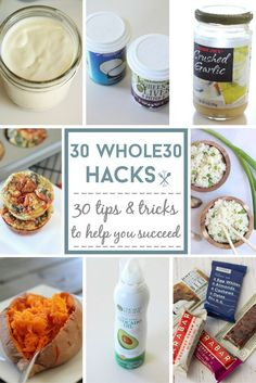 30 Whole30 hacks to help you succeed during the Whole30 challenge. Some great tips and tricks for food prep and planning!