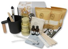 Luxury Candle Making Kit - Complete Supplies to Create 6 Premium Scented Soy Candles Soy Wax Candles, Candle Wax, Scandinavian Candles, Candle Making Supplies, Candlemaking, Luxury Candles, Sewing Stores, Starter Kit, Beautiful Hands