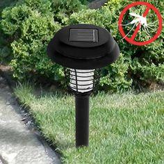 Exterior y acampadas : Lámpara Antimosquitos Solar para Jardín