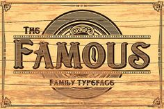theFamous typeface by Alterdeco Inc. on @creativemarket