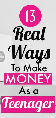 Here are 13 real ways to make money as a teenager. These are simple methods that you can implement to earn money online. You can definitely make a few dollars every month as a kid. make money online teens Legitimate Online Jobs, Legit Online Jobs, Ways To Get Money, Make Money Now, Earn Money Online Fast, Earn Money From Home, Making Money Teens, Teen Money, Apps