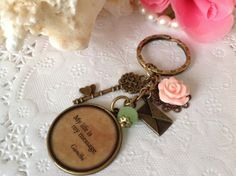 My Life Is My Message Pendant Keychain with Resin by PrettySang