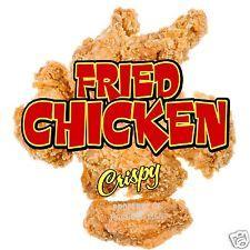 "Fried Chicken Decal 14"" Concession Restaurant Cafe Food Truck Vinyl Sticker Sign"