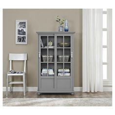 The Arron Lane Gl Door Bookcase By Altra Furniture Provides An Attractive Showcase For Decor Pinterest Sliding Decorative Items And