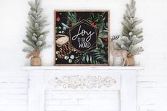Joy To The World / Christmas Printable Wall Art / Christmas Watercolor Decor Prints / Instant Download / 4x4 5x5 8x8 12x12 by LidtkaPrintCompany on Etsy Christmas Wall Art, Modern Christmas, World Decor, Watercolor Walls, Joy To The World, Christmas Printables, Printable Wall Art, Wall Art Prints, Menu