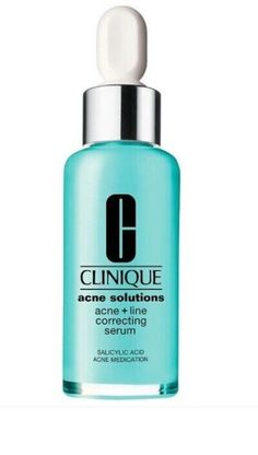 Clinique Acne Solutions Acne + Line Correcting Serum Acne Solutions, Donut Glaze, Chocolate Glaze, Clinique, Donuts, Shampoo, Personal Care, Bottle, Chocolate Frosting